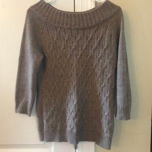 NY & Company Taupe sweater.